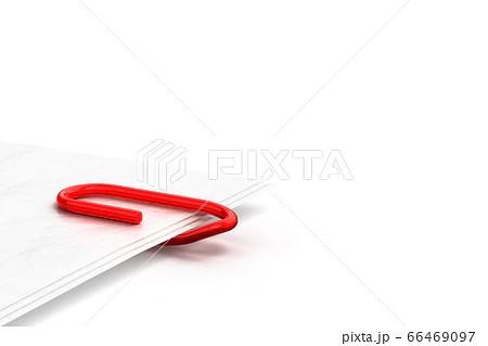 書類をペーパークリップで留める3Dイラストのイラスト素材 [66469097] - PIXTA