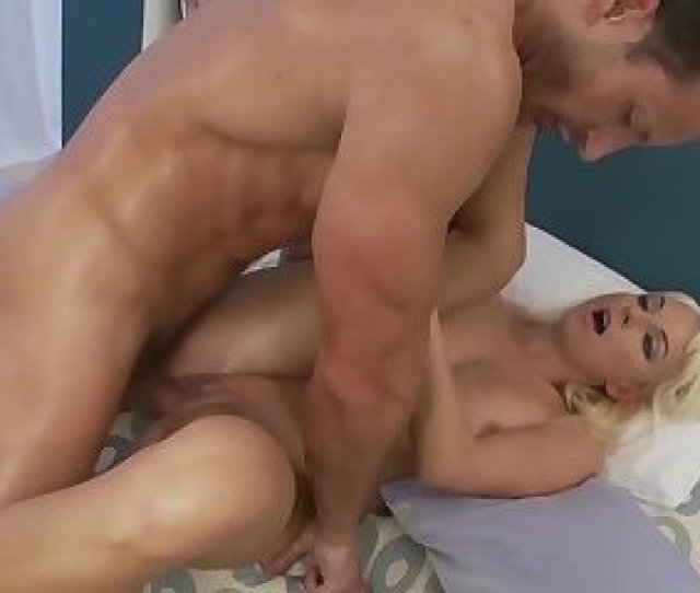 Foxy Blonde Sarah Gets Fucked Up The Ass