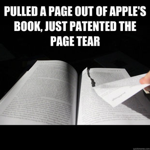Page Tearing Apple
