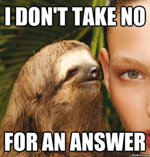 Rape Sloth Meme saying
