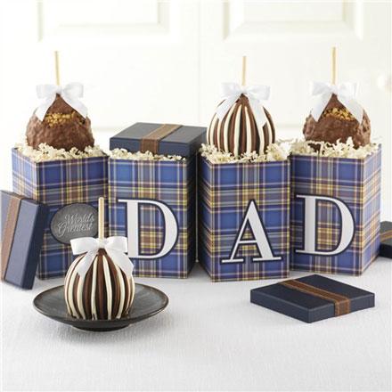 World's Greatest Dad Petite Caramel Apple Gift Set