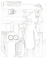 Parody: American Gothic Regular Show Colored by Sorain
