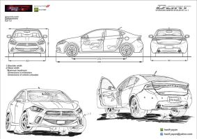 Mercedes-Benz SL? AMG concept Blueprints by hanif-yayan on
