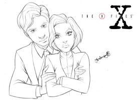 X-FILES: AGENT SCULLY and AGENT MULDER INKS by