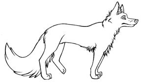 Thylacine Lineart by DrakonicKnight on DeviantArt