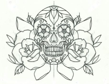 sugar candy skull and