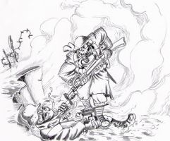 WW1 Gas attack by tanyk on DeviantArt