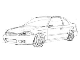 Honda Civic Eg Hatch Sketch by TwinFlow on DeviantArt