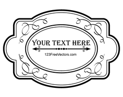 Decorative Oval Vintage Frame Vector Graphics by