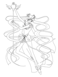 Sailor Cosmos Lineart by silver-eyes-blue on DeviantArt