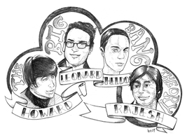 the big bang theory logo by underwaterdrawings on DeviantArt