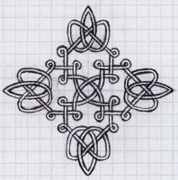 Escher hands drawing Celtic knots by TheCelticPoet on