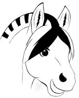 Cute horse-sketch by NoCommentz on DeviantArt