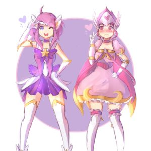 Star Guardian Lux And Magical Girl Quinn
