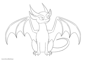 FREE Simple Eastern Dragon Base/Lineart by
