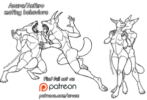 Pose Reference: Anthro Dragon Poses + DLC by ARVEN92 on