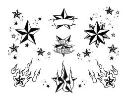 Star tattoo flash by crashchick on DeviantArt