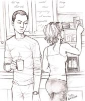 Penny and sheldon by Altina on DeviantArt
