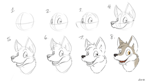 Guide to Drawing Furry Faces by thatWeasel on DeviantArt