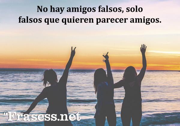 Frases de amistad falsa - No hay amigos falsos, solo falsos que quieren parecer amigos.