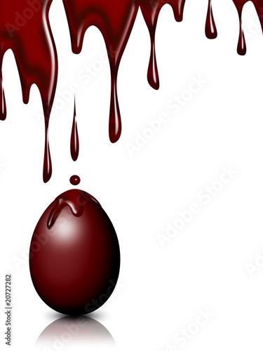 Uovo Cioccolato Pasqua Sfondo-Chocolate Easter Egg Background