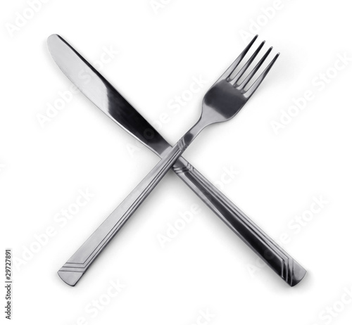 quotCrossed fork and knifequot Stock photo and royaltyfree