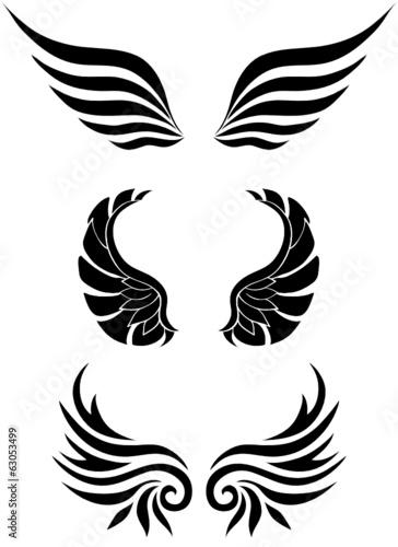 Vektor Abstrakte Flügel Set