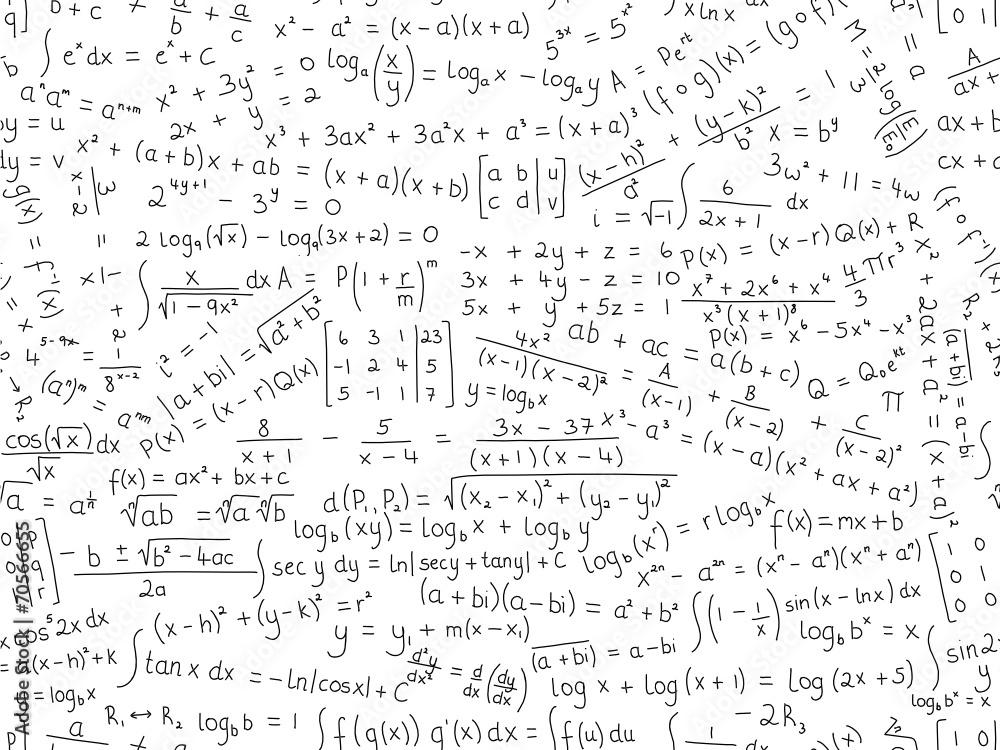 Fototapeta na ścianę Równania matematyczne szwu wzór