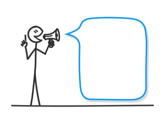 Vektor: sm besserwisser megaphon sprechblase I