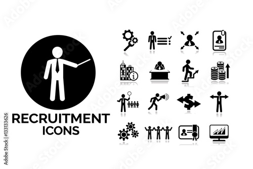 Recruitment and job icons set5. Vector business concept