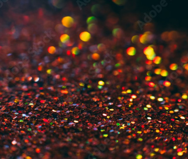 Abstract Shining Glitters Orange Holiday Bokeh Background With Copy Space Defocused Lights Backdrop Selective