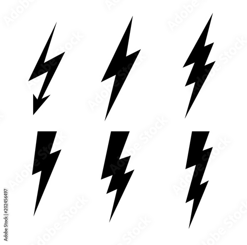 Lightning thunderbolt icon vector.Flash symbol