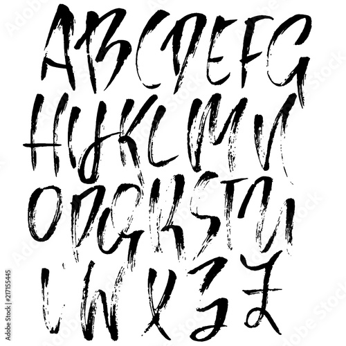 Hand Lettering Styles Alphabet