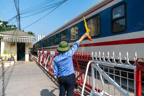 vietnamese woman staff waved