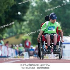 Wheelchair Olympics Wooden Outdoor Rocking Chairs Special Athlete In Stock Photos And Images Age Matthias Schraegle Participates The Over 50 Meter Slalom During