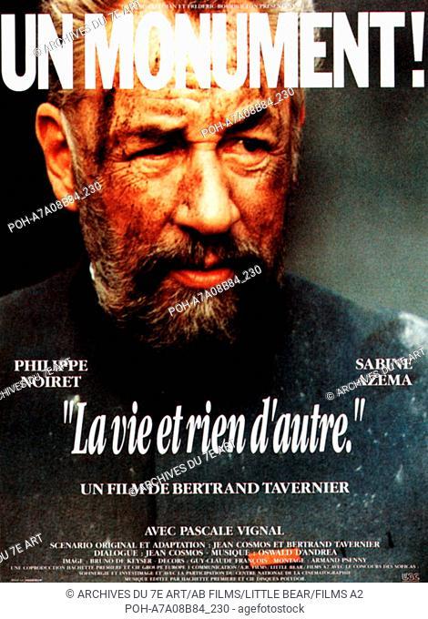 La Vie Et Rien D'autre : d'autre, D'autre, Nothing, Year:, France, Director:, Bertrand, Tavernier...,, Stock, Photo,, Picture, Rights, Managed, Image., POH-A7A08B84_230, Agefotostock