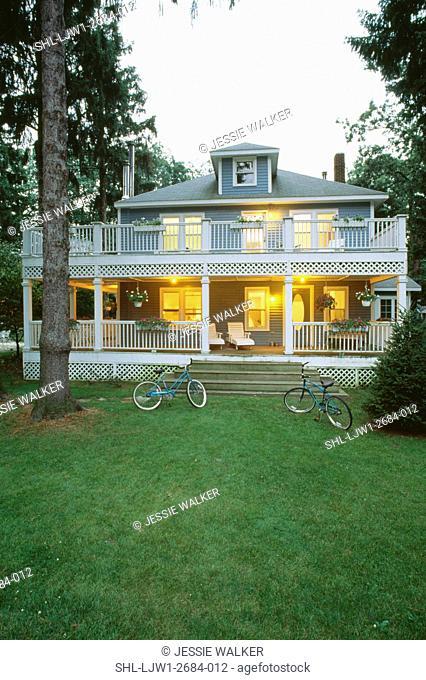 Single Story Wrap Around Porch : single, story, around, porch, Wraparound, Porch, Stock, Photos, Images, Agefotostock
