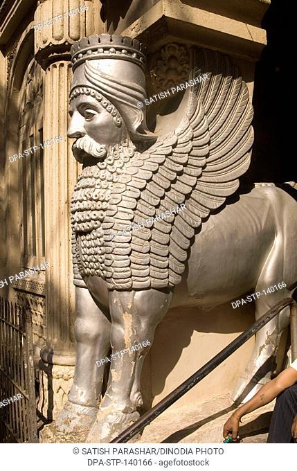 Stone Dino Gate : stone, Statue, Parsi, Stock, Photos, Images, Agefotostock
