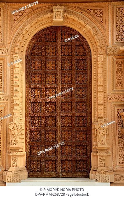 Stone Dino Gate : stone, Carving, Doors, Swaminarayan, Stock, Photos, Images, Agefotostock
