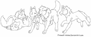 Fighting Wolves Template by DoctorCritical on DeviantArt