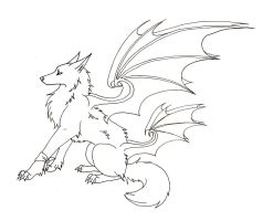 Winged Maned Wolf by CaptainMorwen on DeviantArt
