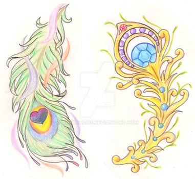 ac462e3a7d13e Peacock Feather Tattoo By Metacharis On Deviantart Free Coloring ...