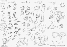How to Draw Felines: Body by JustAutumn on DeviantArt