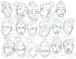 Sketch 03 Sokka Practice by rufftoon on DeviantArt