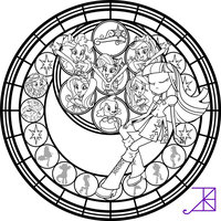 SG: Rainbow Rocks: Coloring Page by Akili-Amethyst on