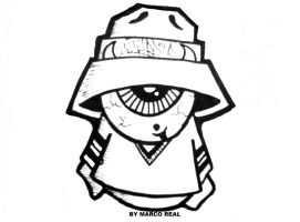 gas mask graffiti character by wizard1labels on DeviantArt