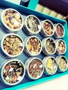 A collection of herbal teas by David's Tea.
