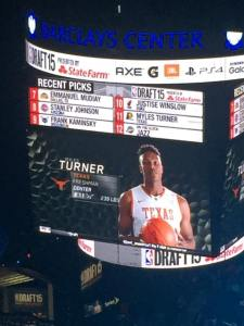 Myles Turner, former Longhorn, going #11 overall in the NBA Draft