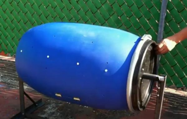 How to make a homemade composter - How to make a rotary composter