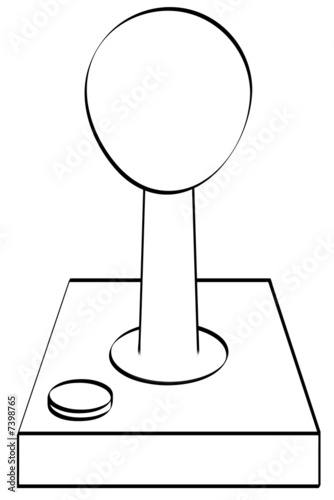 outline of gaming joystick or controller by Willee Cole
